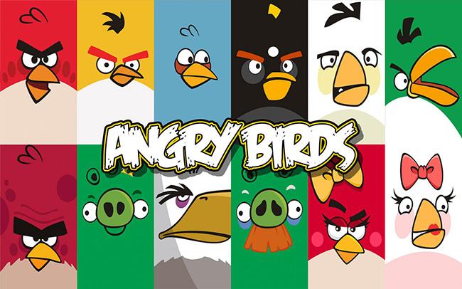 Angry Birds e todas as suas versões( Space, Star Wars,Rio, Etc…)